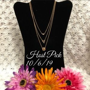 Jewelry - ❤️HP❤️Multi layer Necklace/Earrings Set